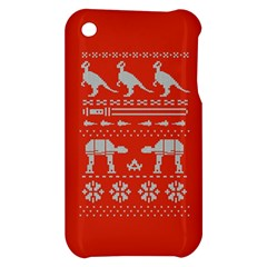 Holiday Party Attire Ugly Christmas Red Background Apple iPhone 3G/3GS Hardshell Case