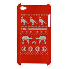 Holiday Party Attire Ugly Christmas Red Background Apple iPod Touch 4