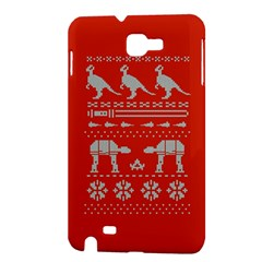 Holiday Party Attire Ugly Christmas Red Background Samsung Galaxy Note 1 Hardshell Case