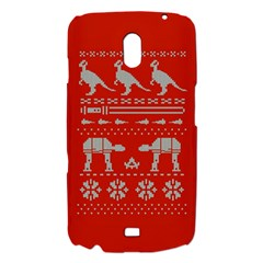 Holiday Party Attire Ugly Christmas Red Background Samsung Galaxy Nexus i9250 Hardshell Case