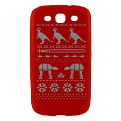 Holiday Party Attire Ugly Christmas Red Background Samsung Galaxy S III Hardshell Case