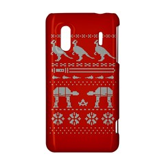 Holiday Party Attire Ugly Christmas Red Background HTC Evo Design 4G/ Hero S Hardshell Case