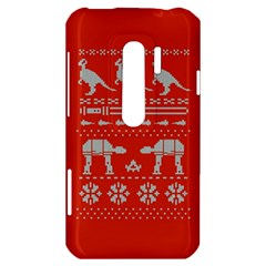 Holiday Party Attire Ugly Christmas Red Background HTC Evo 3D Hardshell Case