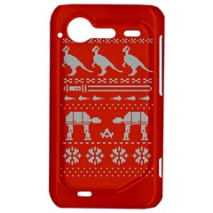 Holiday Party Attire Ugly Christmas Red Background HTC Incredible S Hardshell Case