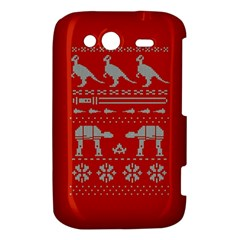 Holiday Party Attire Ugly Christmas Red Background HTC Wildfire S A510e Hardshell Case