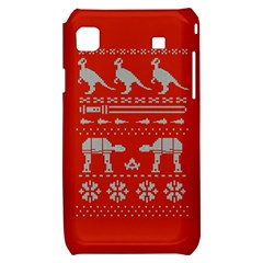 Holiday Party Attire Ugly Christmas Red Background Samsung Galaxy S i9000 Hardshell Case