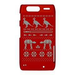 Holiday Party Attire Ugly Christmas Red Background Motorola Droid Razr XT912