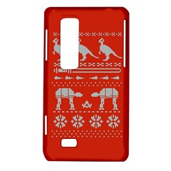 Holiday Party Attire Ugly Christmas Red Background LG Optimus Thrill 4G P925