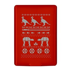 Holiday Party Attire Ugly Christmas Red Background Kindle 4