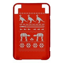 Holiday Party Attire Ugly Christmas Red Background Kindle 3 Keyboard 3G