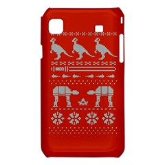 Holiday Party Attire Ugly Christmas Red Background Samsung Galaxy S i9008 Hardshell Case