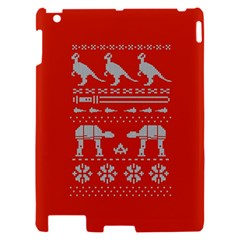 Holiday Party Attire Ugly Christmas Red Background Apple iPad 2 Hardshell Case