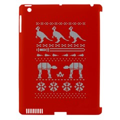 Holiday Party Attire Ugly Christmas Red Background Apple iPad 3/4 Hardshell Case (Compatible with Smart Cover)