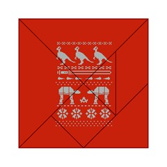 Holiday Party Attire Ugly Christmas Red Background Acrylic Tangram Puzzle (6  x 6 )