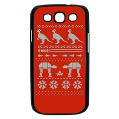 Holiday Party Attire Ugly Christmas Red Background Samsung Galaxy S III Case (Black)