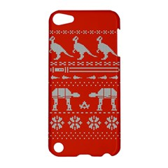 Holiday Party Attire Ugly Christmas Red Background Apple iPod Touch 5 Hardshell Case