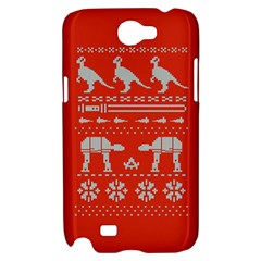 Holiday Party Attire Ugly Christmas Red Background Samsung Galaxy Note 2 Hardshell Case