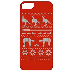 Holiday Party Attire Ugly Christmas Red Background Apple iPhone 5 Classic Hardshell Case