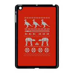 Holiday Party Attire Ugly Christmas Red Background Apple iPad Mini Case (Black)