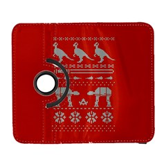 Holiday Party Attire Ugly Christmas Red Background Samsung Galaxy S  III Flip 360 Case
