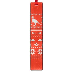 Holiday Party Attire Ugly Christmas Red Background Large Book Marks