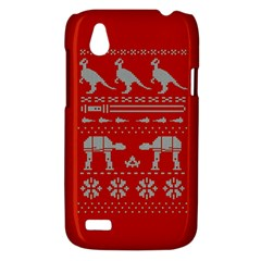 Holiday Party Attire Ugly Christmas Red Background HTC Desire V (T328W) Hardshell Case