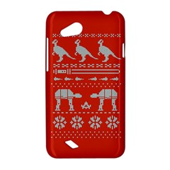Holiday Party Attire Ugly Christmas Red Background HTC Desire VC (T328D) Hardshell Case