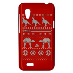 Holiday Party Attire Ugly Christmas Red Background HTC Desire VT (T328T) Hardshell Case
