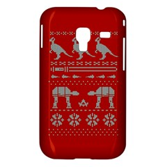 Holiday Party Attire Ugly Christmas Red Background Samsung Galaxy Ace Plus S7500 Hardshell Case