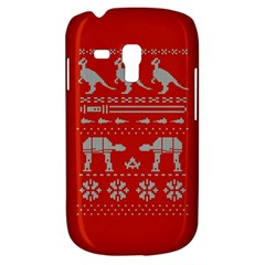 Holiday Party Attire Ugly Christmas Red Background Samsung Galaxy S3 MINI I8190 Hardshell Case
