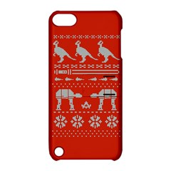Holiday Party Attire Ugly Christmas Red Background Apple iPod Touch 5 Hardshell Case with Stand
