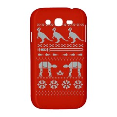 Holiday Party Attire Ugly Christmas Red Background Samsung Galaxy Grand DUOS I9082 Hardshell Case