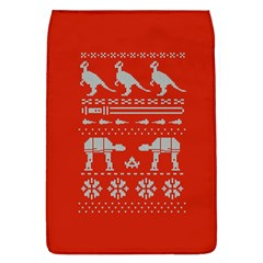 Holiday Party Attire Ugly Christmas Red Background Flap Covers (L)