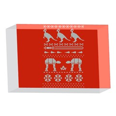 Holiday Party Attire Ugly Christmas Red Background 4 x 6  Acrylic Photo Blocks
