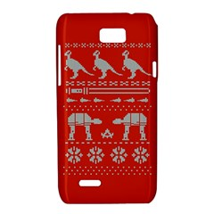 Holiday Party Attire Ugly Christmas Red Background Motorola XT788