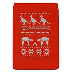 Holiday Party Attire Ugly Christmas Red Background Flap Covers (S)