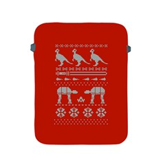 Holiday Party Attire Ugly Christmas Red Background Apple iPad 2/3/4 Protective Soft Cases