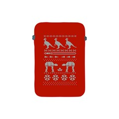 Holiday Party Attire Ugly Christmas Red Background Apple iPad Mini Protective Soft Cases