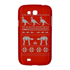 Holiday Party Attire Ugly Christmas Red Background Samsung Galaxy Grand GT-I9128 Hardshell Case