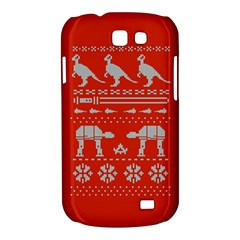 Holiday Party Attire Ugly Christmas Red Background Samsung Galaxy Express I8730 Hardshell Case
