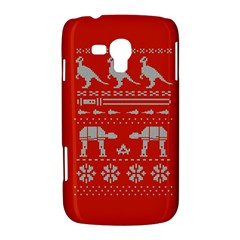 Holiday Party Attire Ugly Christmas Red Background Samsung Galaxy Duos I8262 Hardshell Case