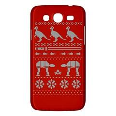 Holiday Party Attire Ugly Christmas Red Background Samsung Galaxy Mega 5.8 I9152 Hardshell Case
