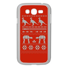 Holiday Party Attire Ugly Christmas Red Background Samsung Galaxy Grand DUOS I9082 Case (White)