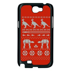 Holiday Party Attire Ugly Christmas Red Background Samsung Galaxy Note 2 Case (Black)