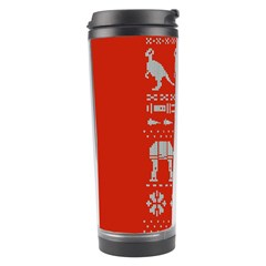 Holiday Party Attire Ugly Christmas Red Background Travel Tumbler