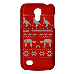 Holiday Party Attire Ugly Christmas Red Background Galaxy S4 Mini