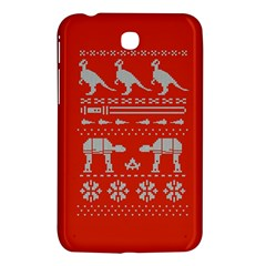 Holiday Party Attire Ugly Christmas Red Background Samsung Galaxy Tab 3 (7 ) P3200 Hardshell Case