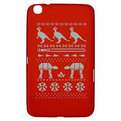 Holiday Party Attire Ugly Christmas Red Background Samsung Galaxy Tab 3 (8 ) T3100 Hardshell Case