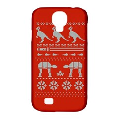 Holiday Party Attire Ugly Christmas Red Background Samsung Galaxy S4 Classic Hardshell Case (PC+Silicone)