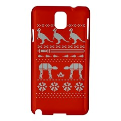 Holiday Party Attire Ugly Christmas Red Background Samsung Galaxy Note 3 N9005 Hardshell Case
